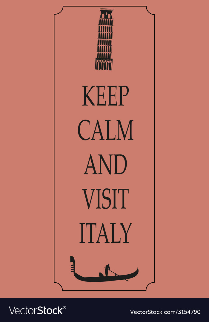 Italy travel card vector | Price: 1 Credit (USD $1)