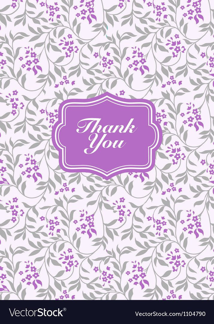 Lilac pastel thank you frame vector | Price: 1 Credit (USD $1)