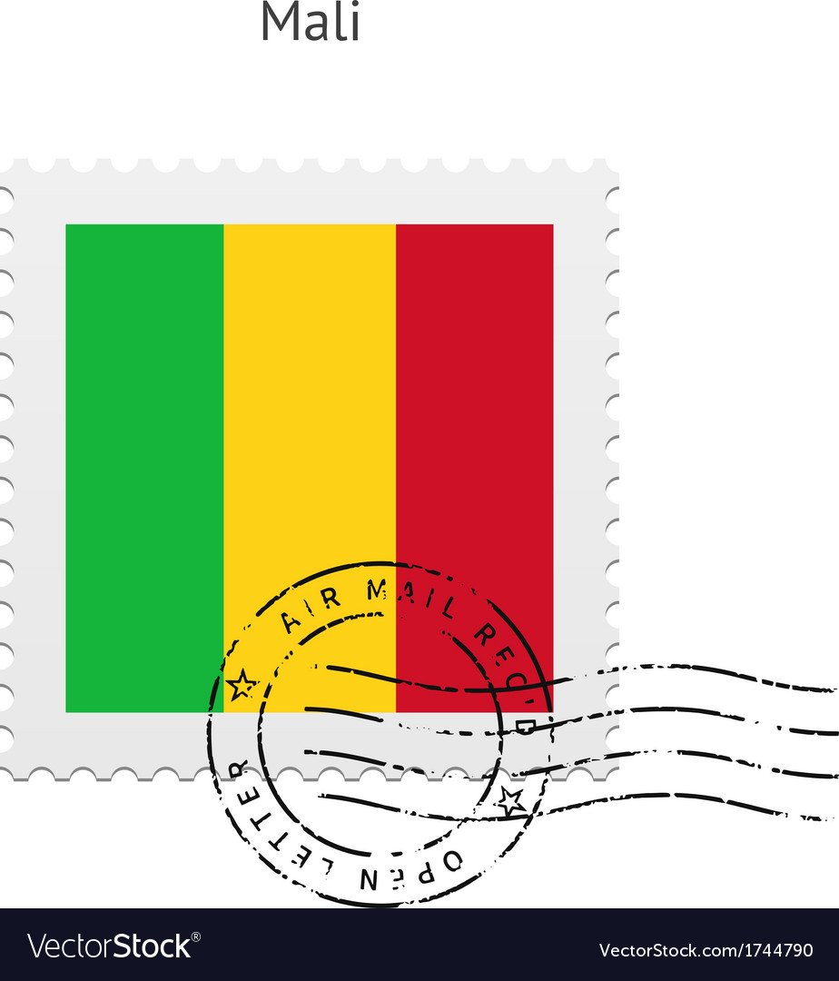 Mali flag postage stamp vector | Price: 1 Credit (USD $1)