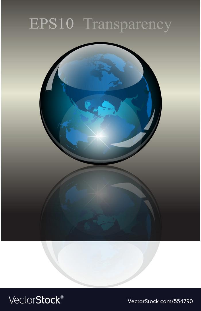 Modern globe vector | Price: 1 Credit (USD $1)