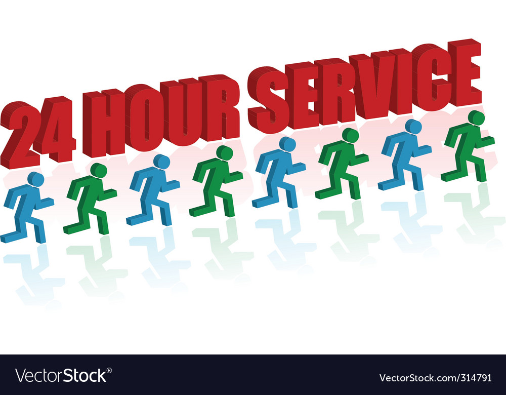 24 hour service vector | Price: 1 Credit (USD $1)