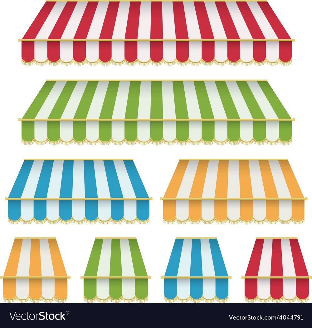 Awning decorations vector | Price: 1 Credit (USD $1)