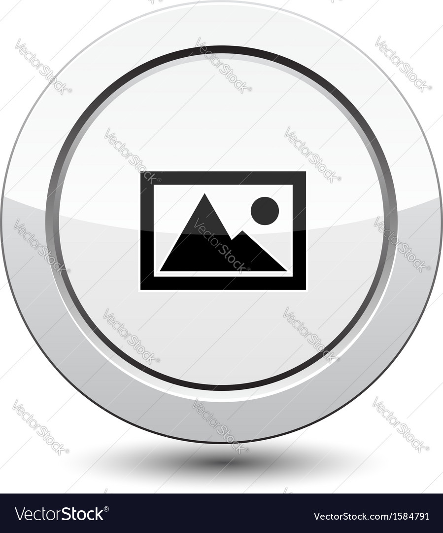 Button with mountain vector | Price: 1 Credit (USD $1)