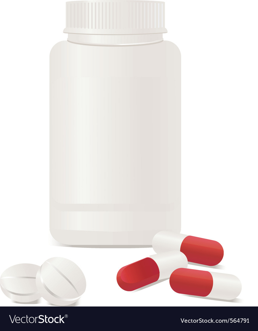 Container pills vector | Price: 3 Credit (USD $3)
