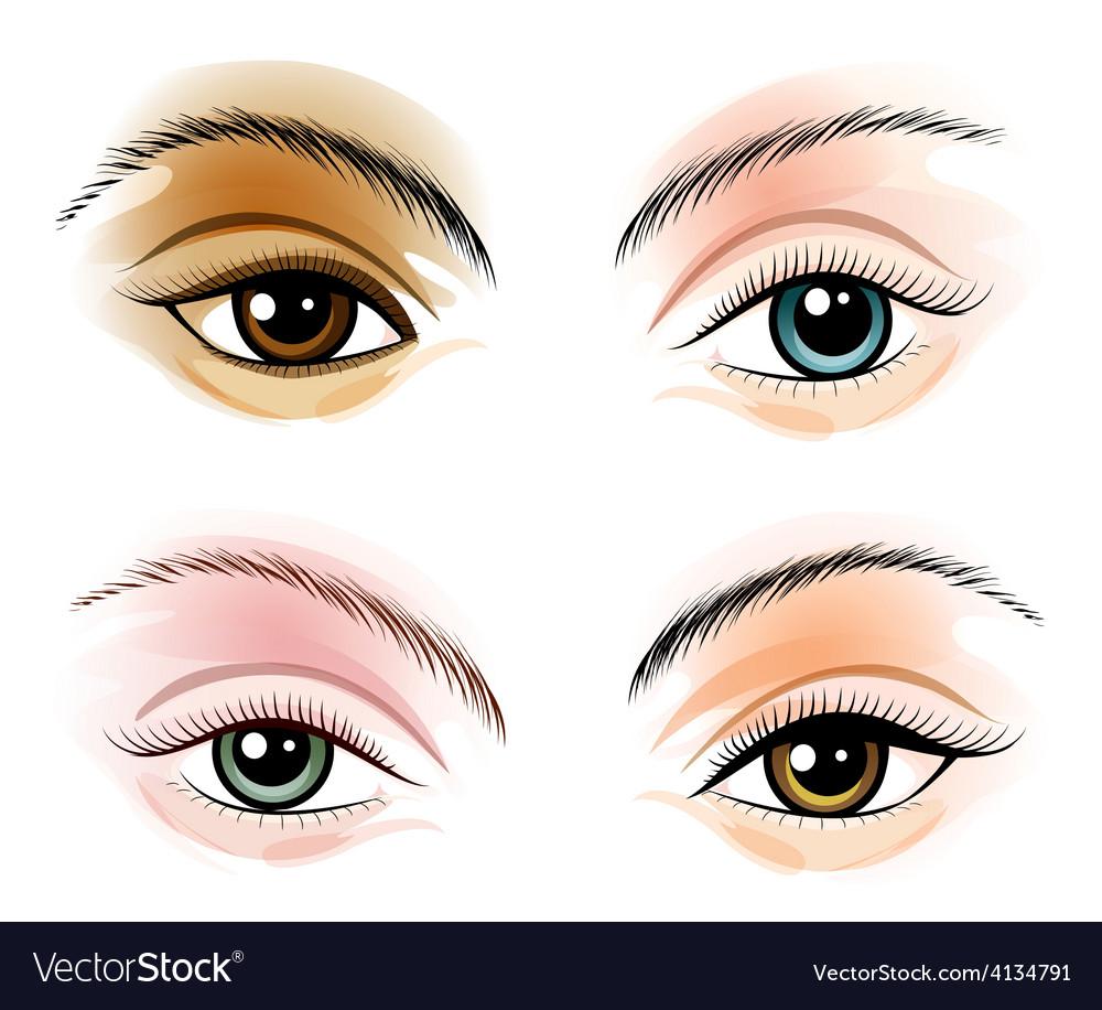 Eye set vector | Price: 1 Credit (USD $1)