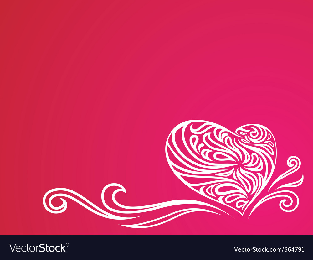 Heart ornament background vector | Price: 1 Credit (USD $1)