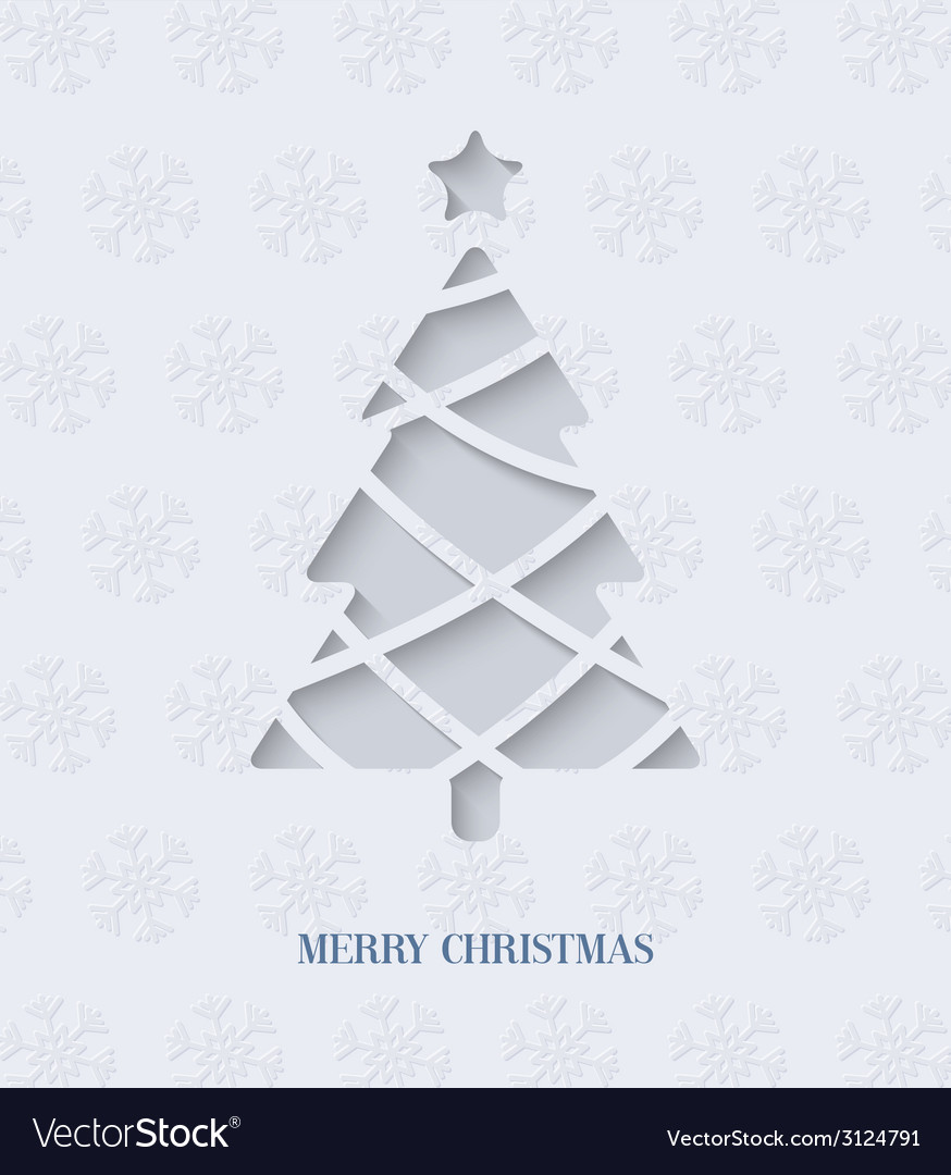 Paper cut christmas tree vector | Price: 1 Credit (USD $1)