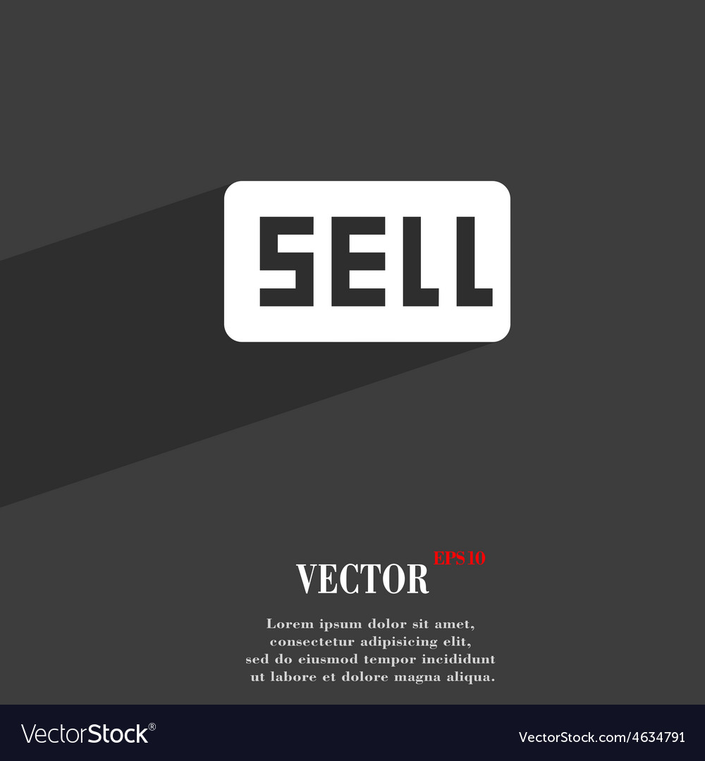 Sell contributor earnings icon symbol flat modern vector | Price: 1 Credit (USD $1)