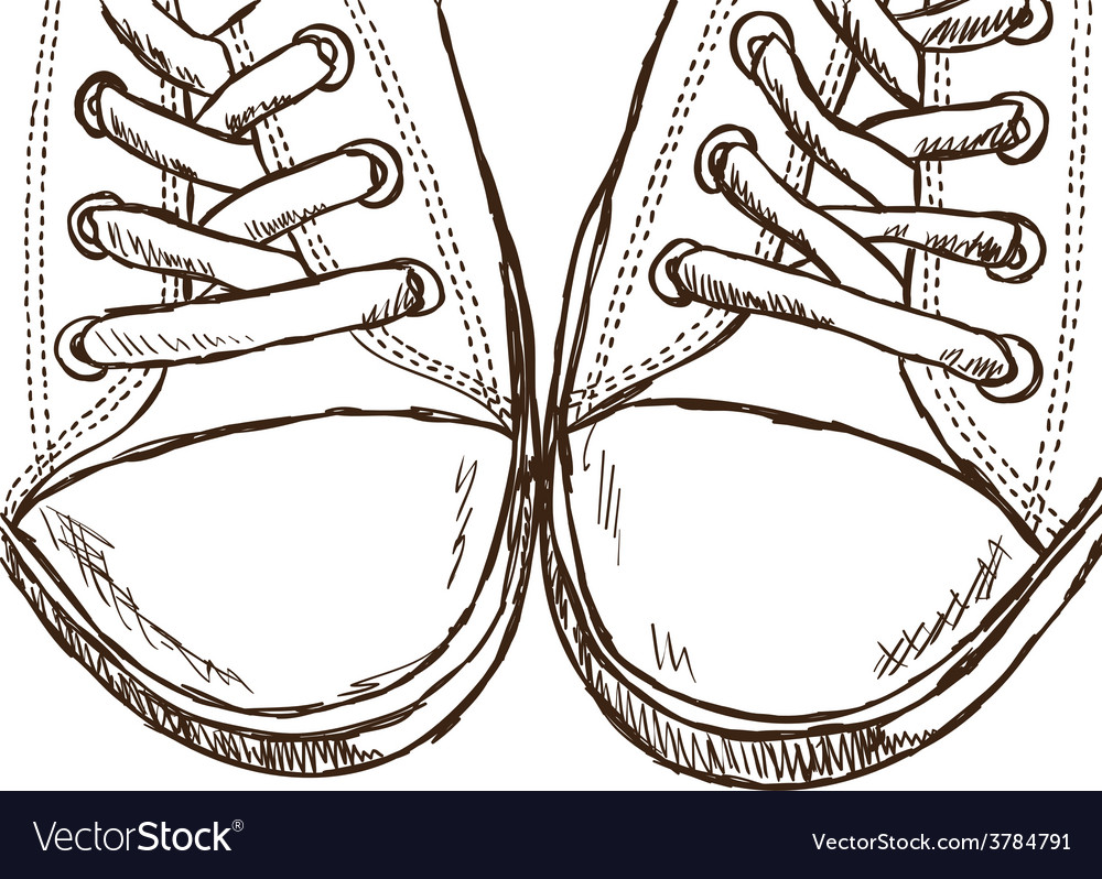 Sneakers - hand drawn style vector | Price: 1 Credit (USD $1)