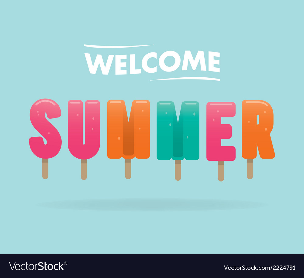 Welcome summer vector | Price: 1 Credit (USD $1)