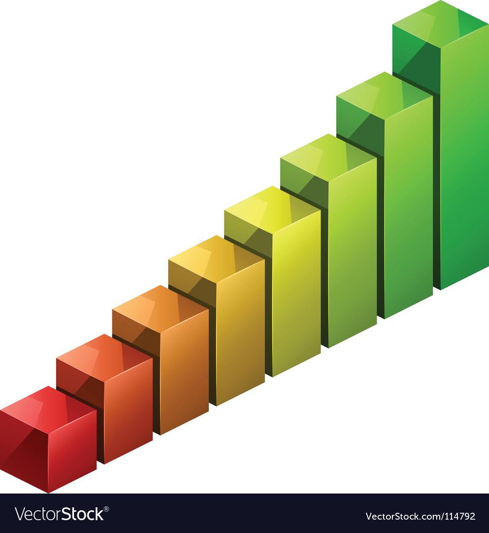 3d bar graph vector | Price: 3 Credit (USD $3)