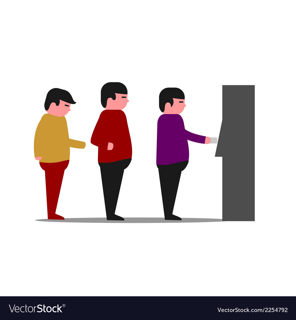 Atm queue vector | Price: 1 Credit (USD $1)
