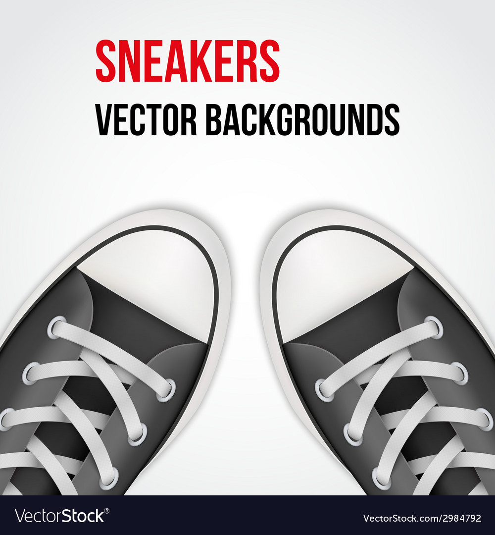 Background of simple black classic sneakers vector | Price: 1 Credit (USD $1)