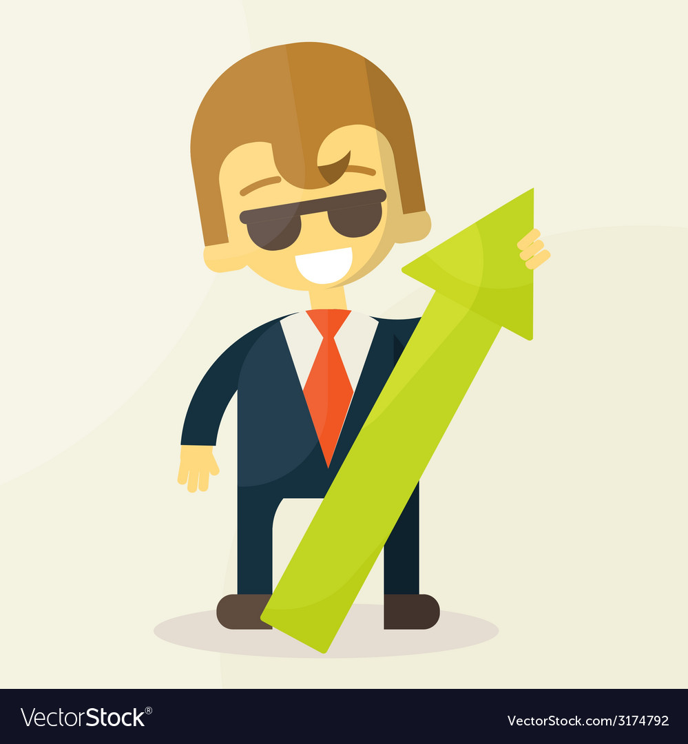 Businessman holding graph up vector   Price: 1 Credit (USD $1)
