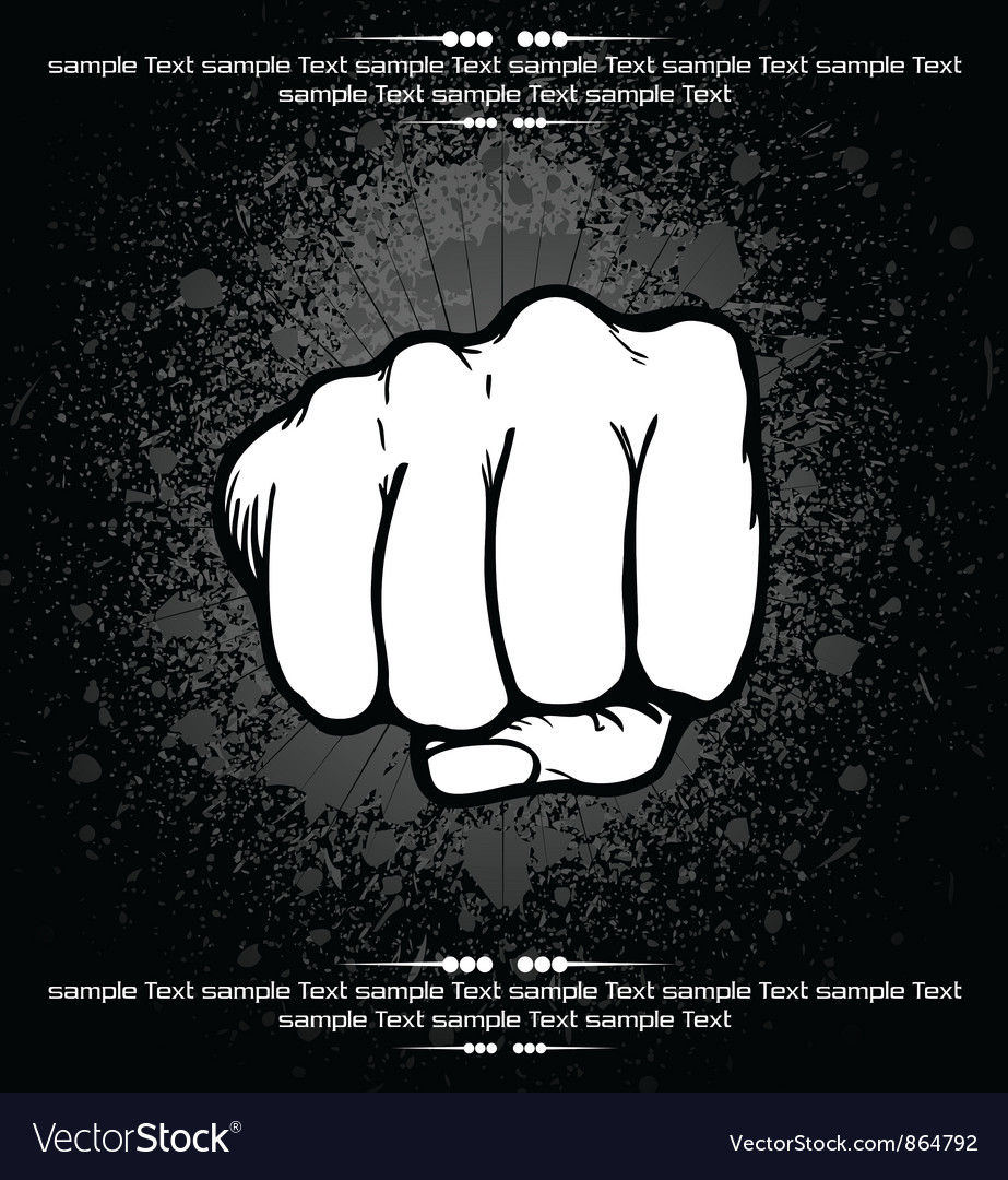 Fist background vector | Price: 1 Credit (USD $1)