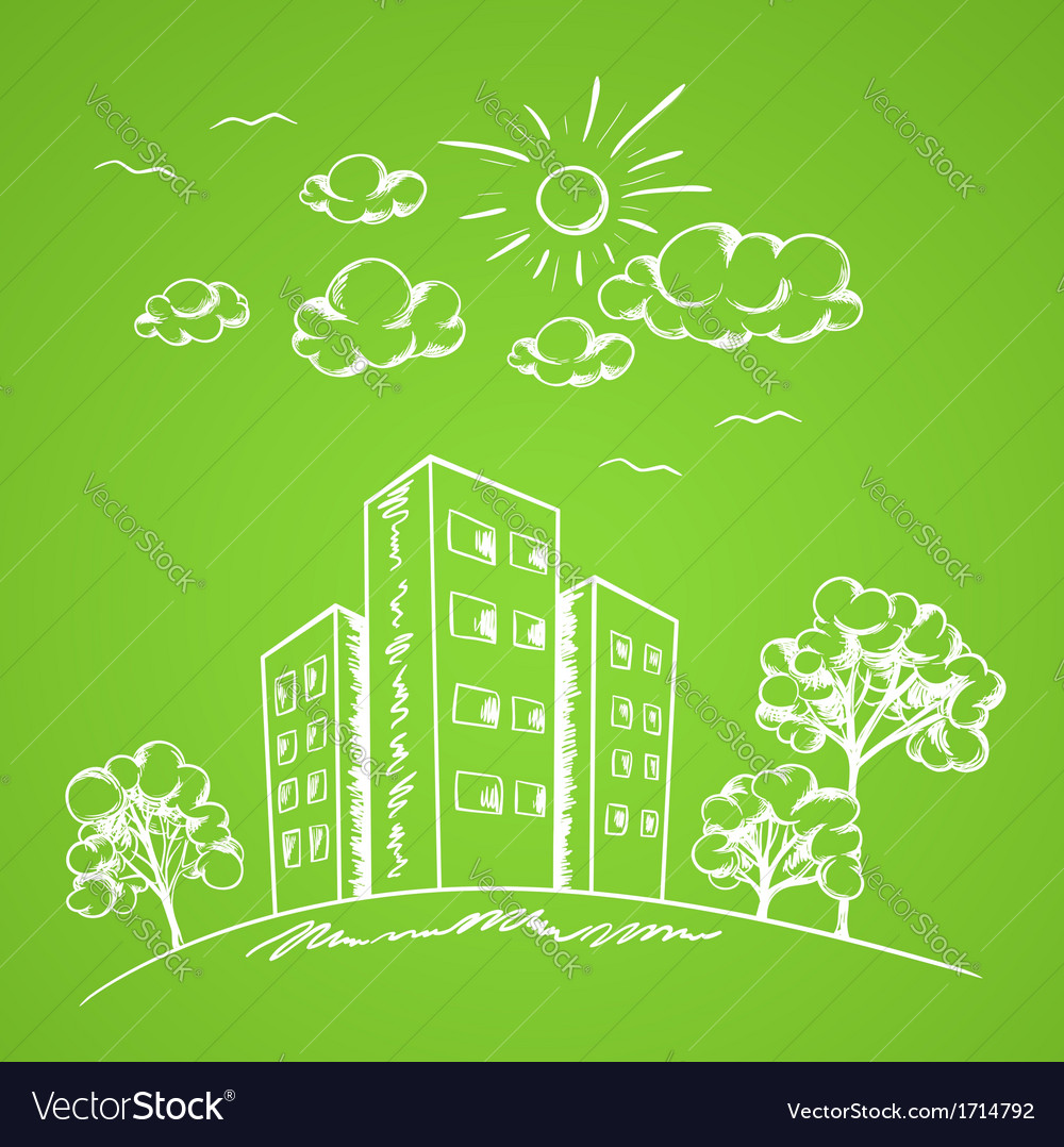 Green hand drawn background vector | Price: 1 Credit (USD $1)