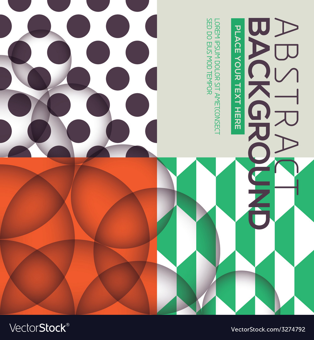 Polka dot geometric seamless pattern background vector | Price: 1 Credit (USD $1)