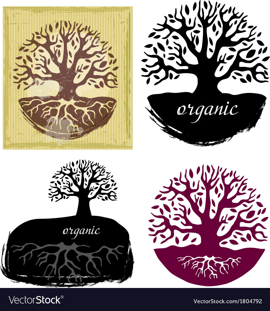 Set of tree symbols vector | Price: 1 Credit (USD $1)