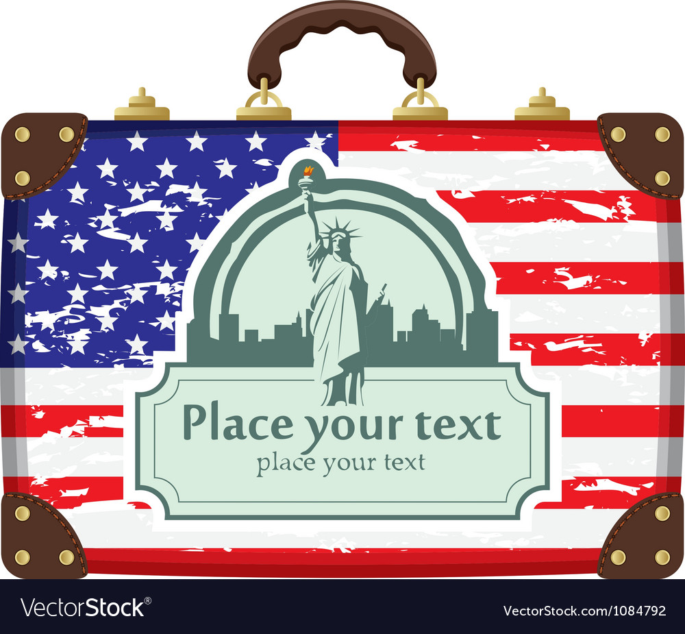 Suitcase america vector | Price: 1 Credit (USD $1)
