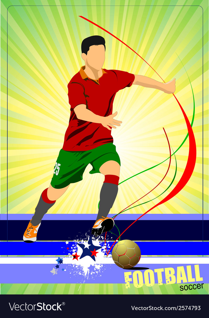 Al 0345 soccer poster 02 vector | Price: 1 Credit (USD $1)
