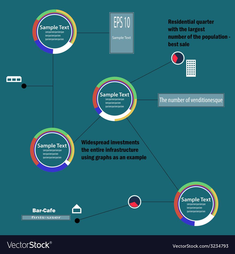 Circular infographics vector | Price: 1 Credit (USD $1)