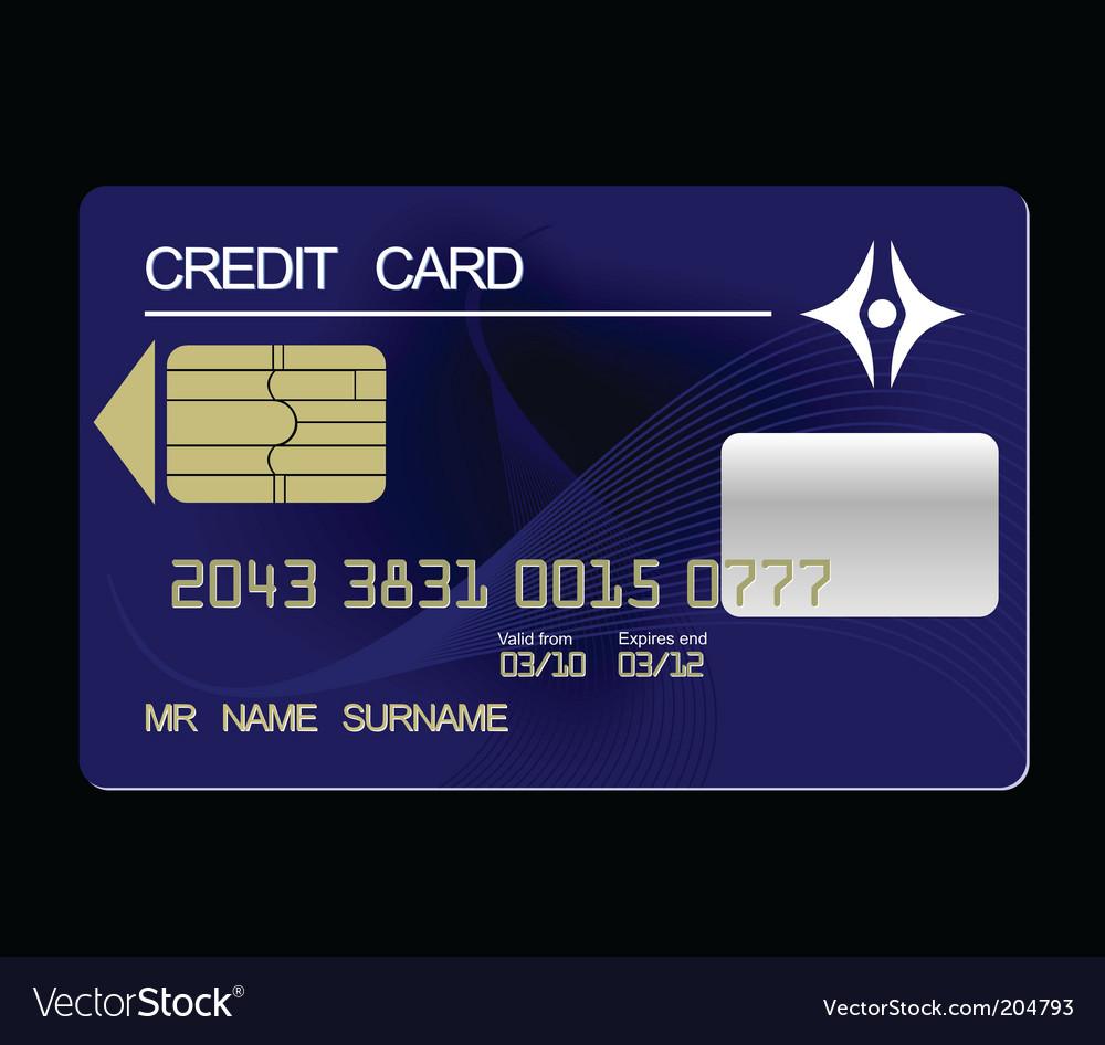 Credit card vector | Price: 1 Credit (USD $1)