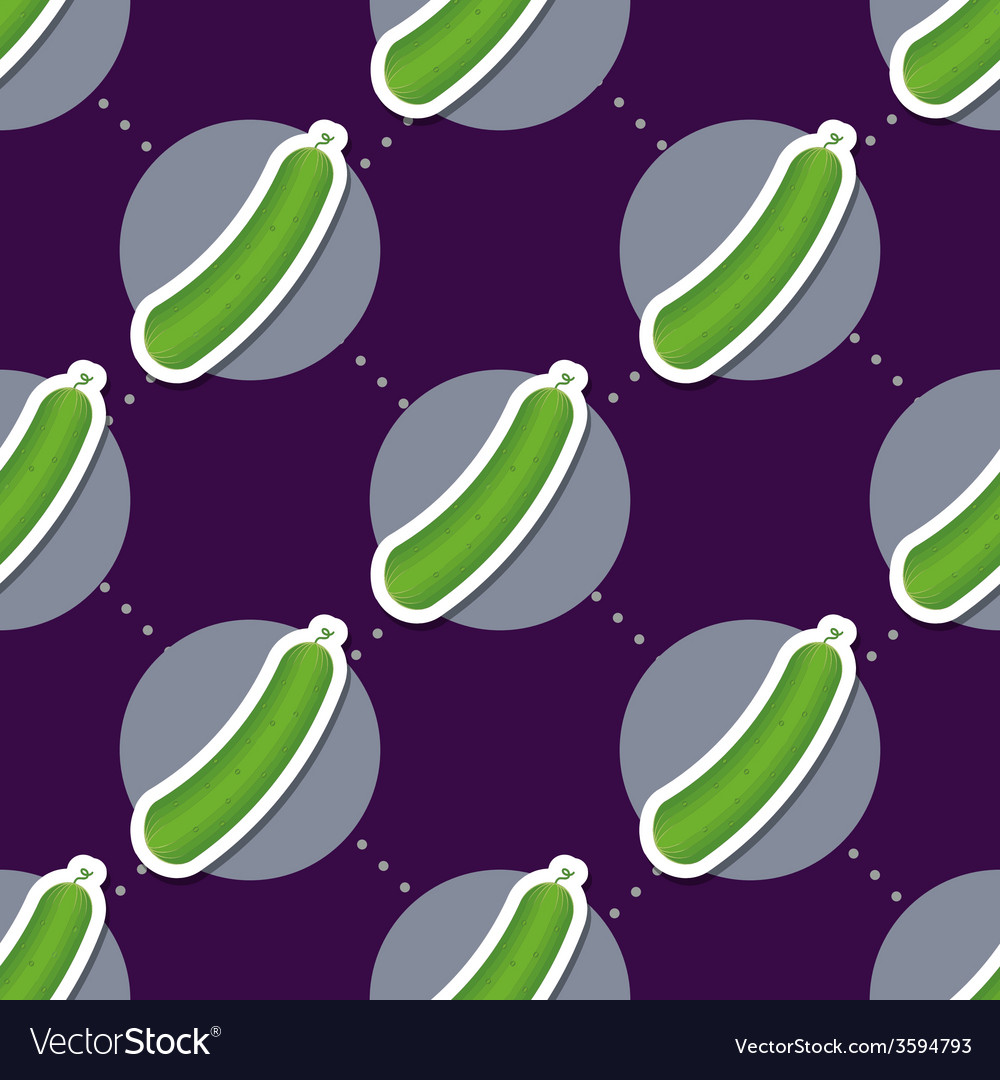 Cucumber pattern seamless texture with ripe green vector | Price: 1 Credit (USD $1)