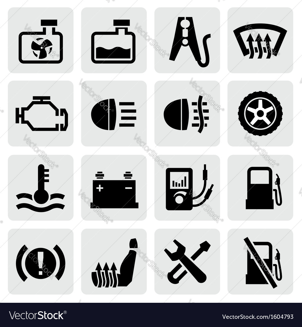Dashboard and auto icons vector | Price: 1 Credit (USD $1)