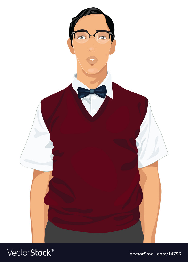 Geeky guy vector | Price: 3 Credit (USD $3)