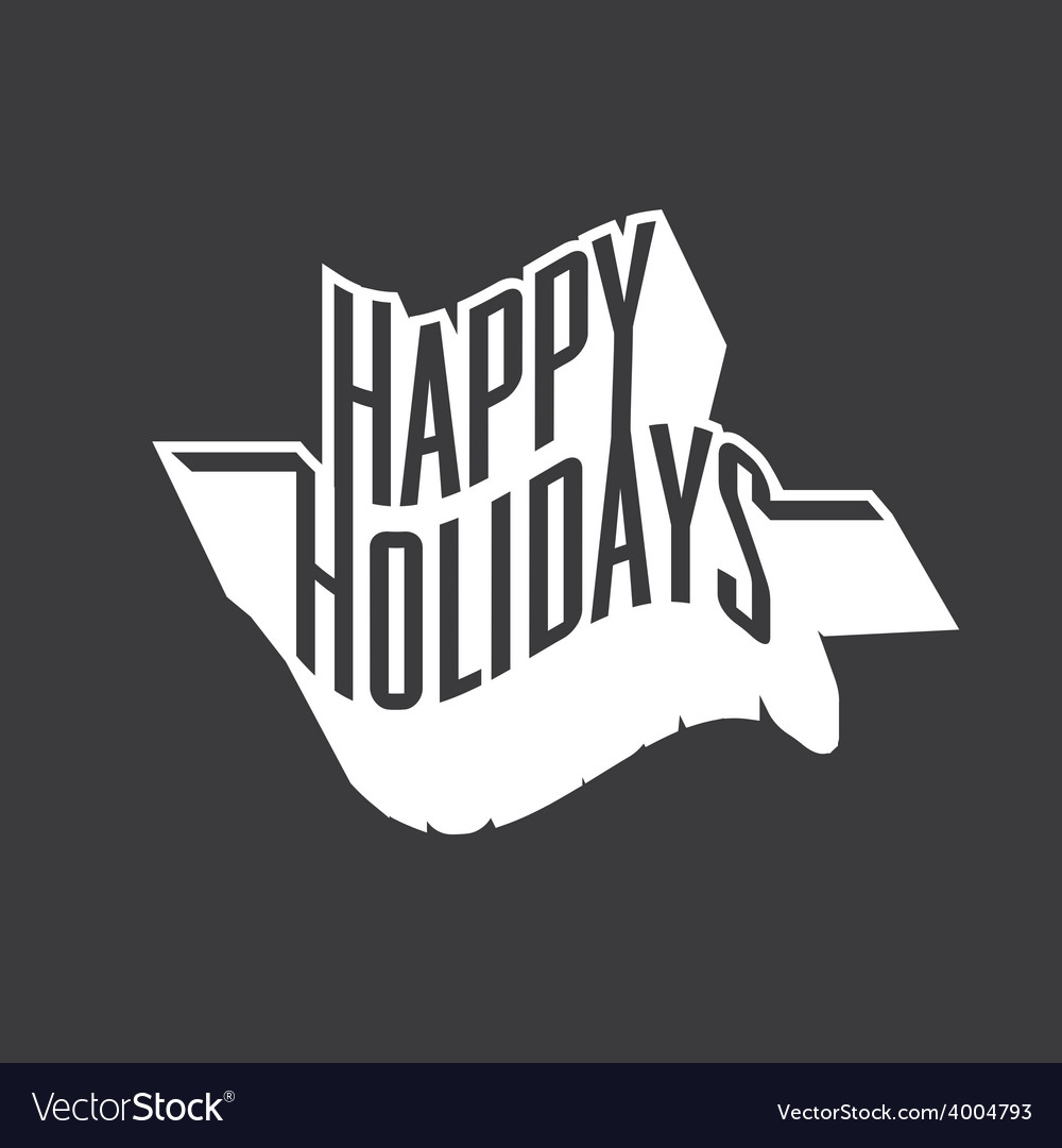 Happy holidays vector | Price: 1 Credit (USD $1)