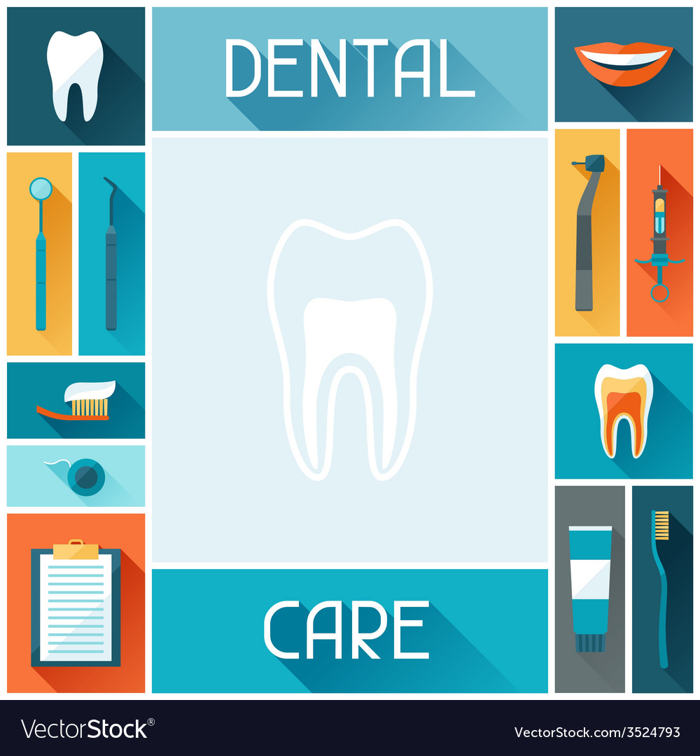Medical background design with dental icons vector | Price: 1 Credit (USD $1)