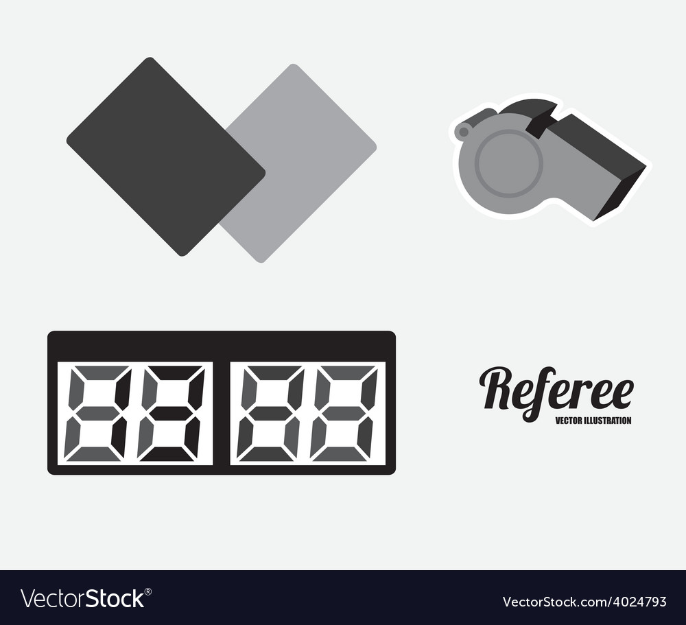 Referee desing vector | Price: 1 Credit (USD $1)