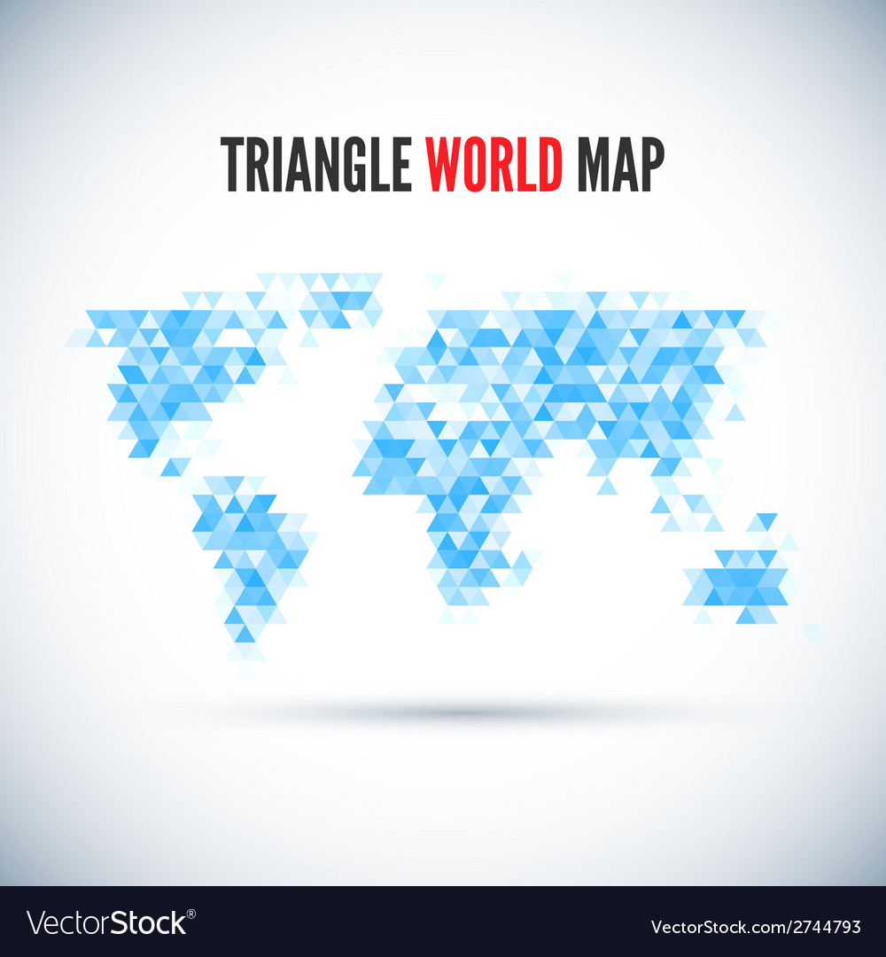 Triangle map abstract isolated on a white vector | Price: 1 Credit (USD $1)