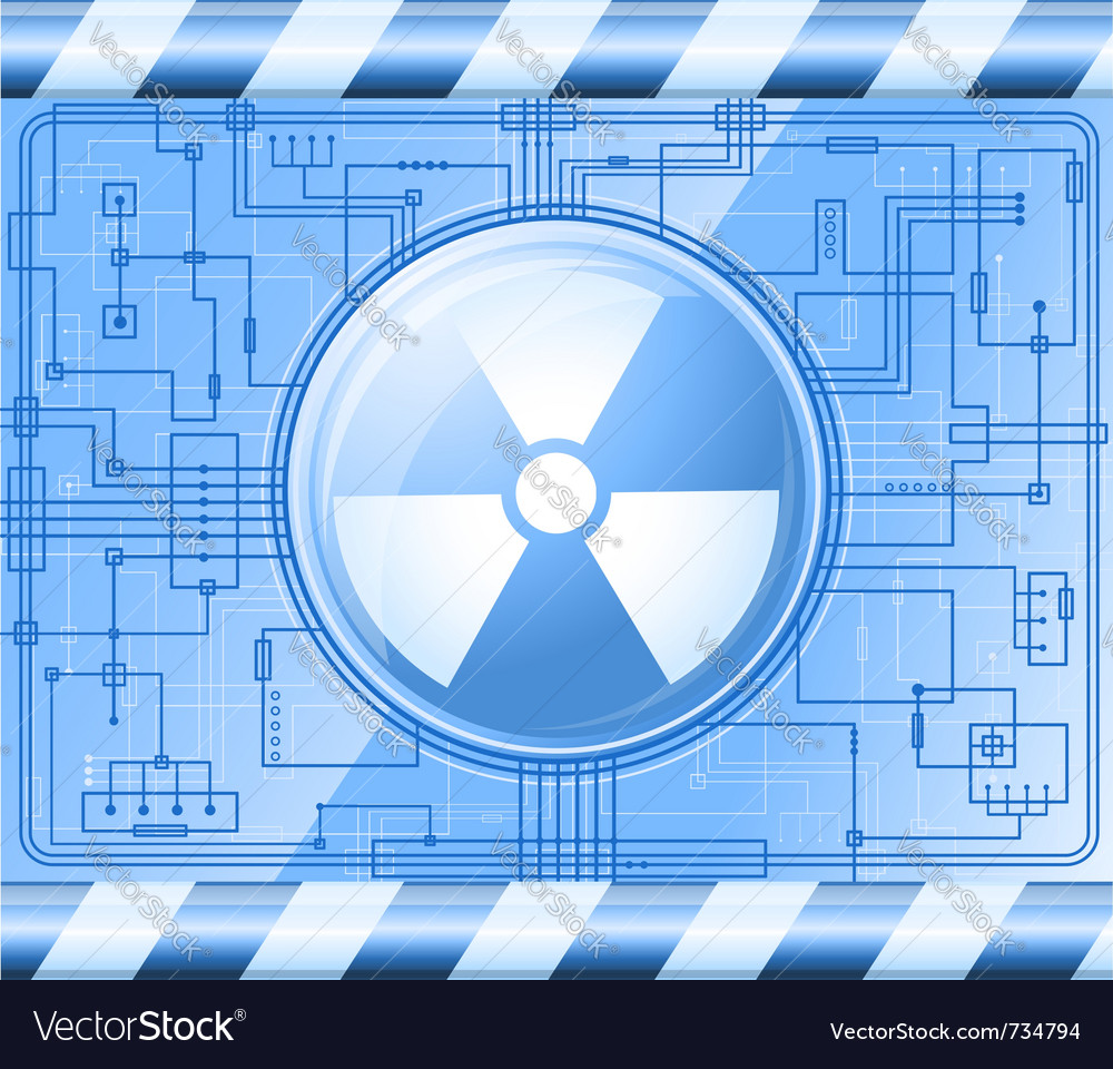 Button radiation vector | Price: 1 Credit (USD $1)