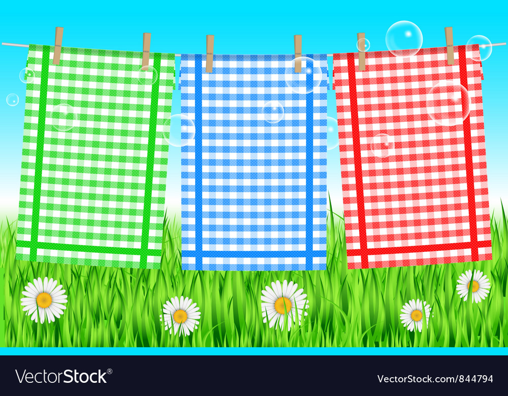 Colorful towels background vector | Price: 1 Credit (USD $1)