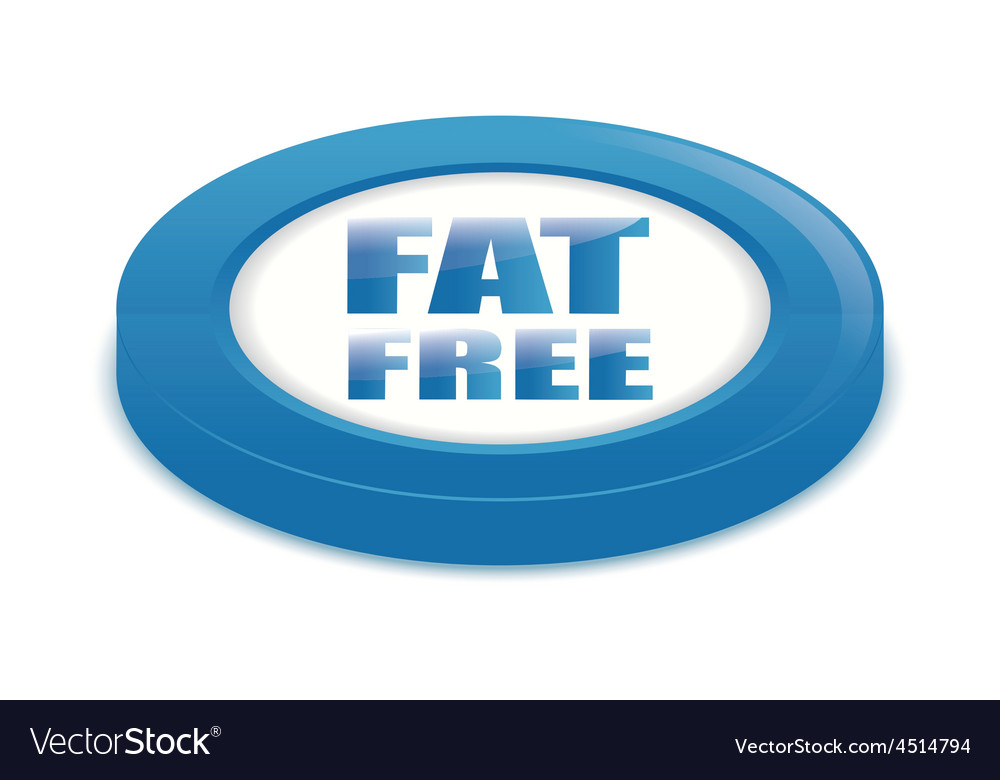 Fat free design vector | Price: 1 Credit (USD $1)
