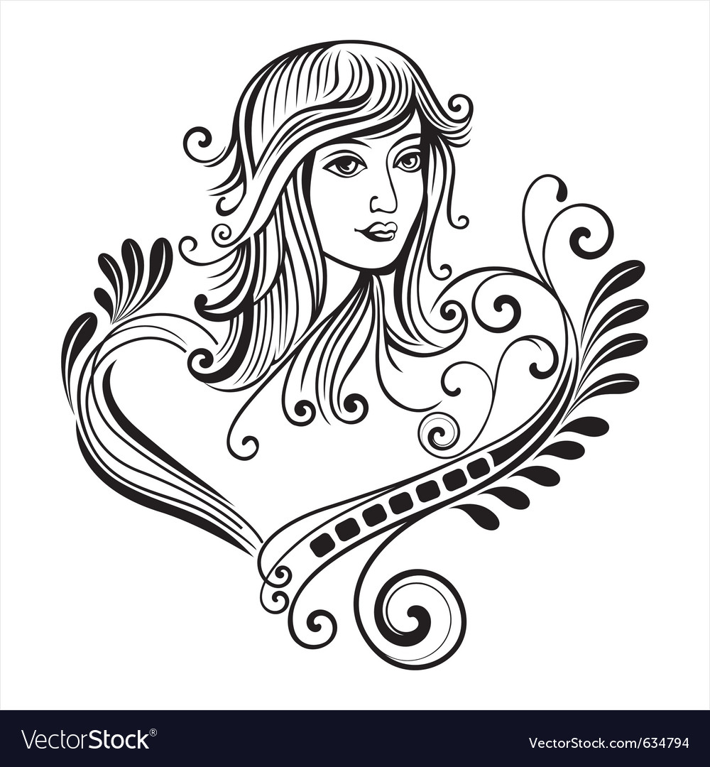 Female scroll vector | Price: 1 Credit (USD $1)