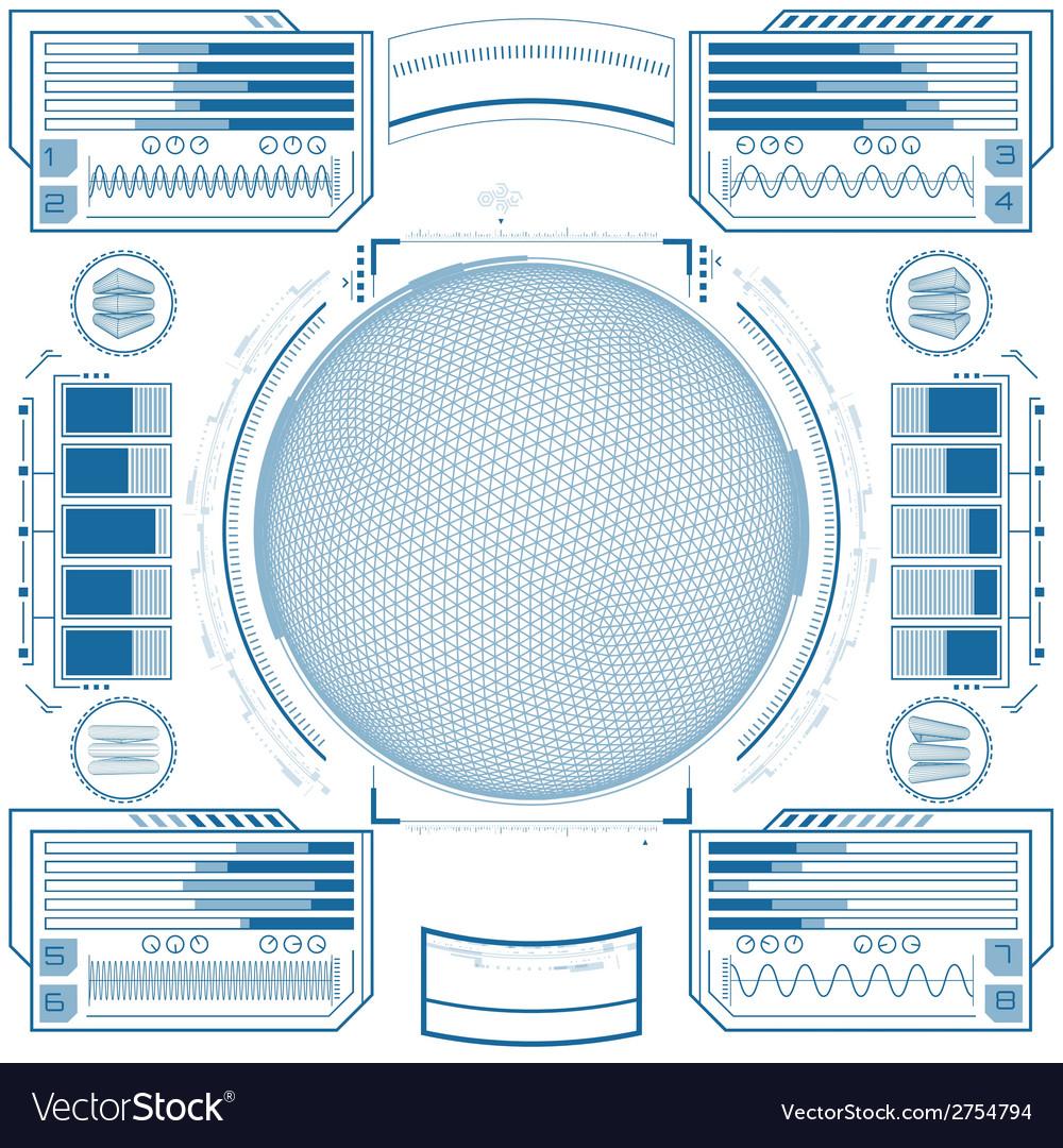 Futuristic graphic user interface vector   Price: 1 Credit (USD $1)