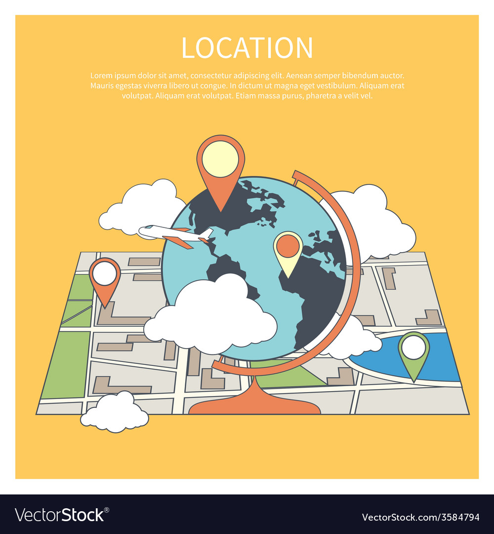 Location concept world map infographic vector | Price: 1 Credit (USD $1)