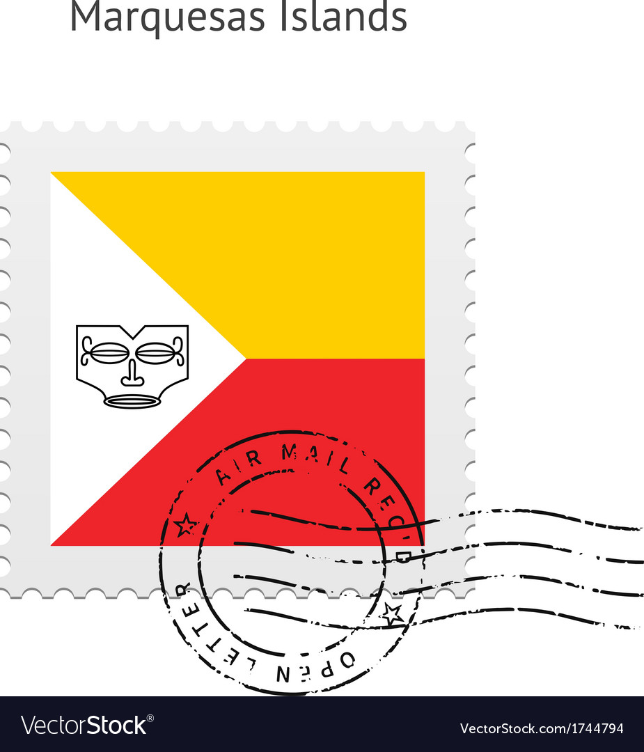 Marquesas islands flag postage stamp vector   Price: 1 Credit (USD $1)