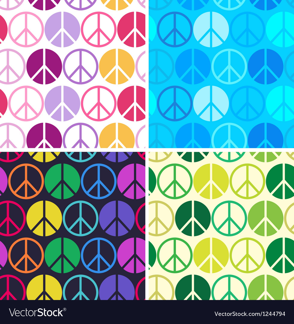 Peace seamless pattern vector | Price: 1 Credit (USD $1)