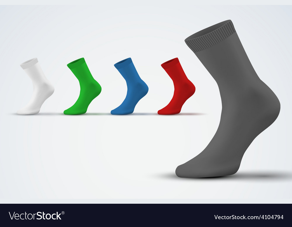 Realistic layout of socks a simple example vector | Price: 1 Credit (USD $1)