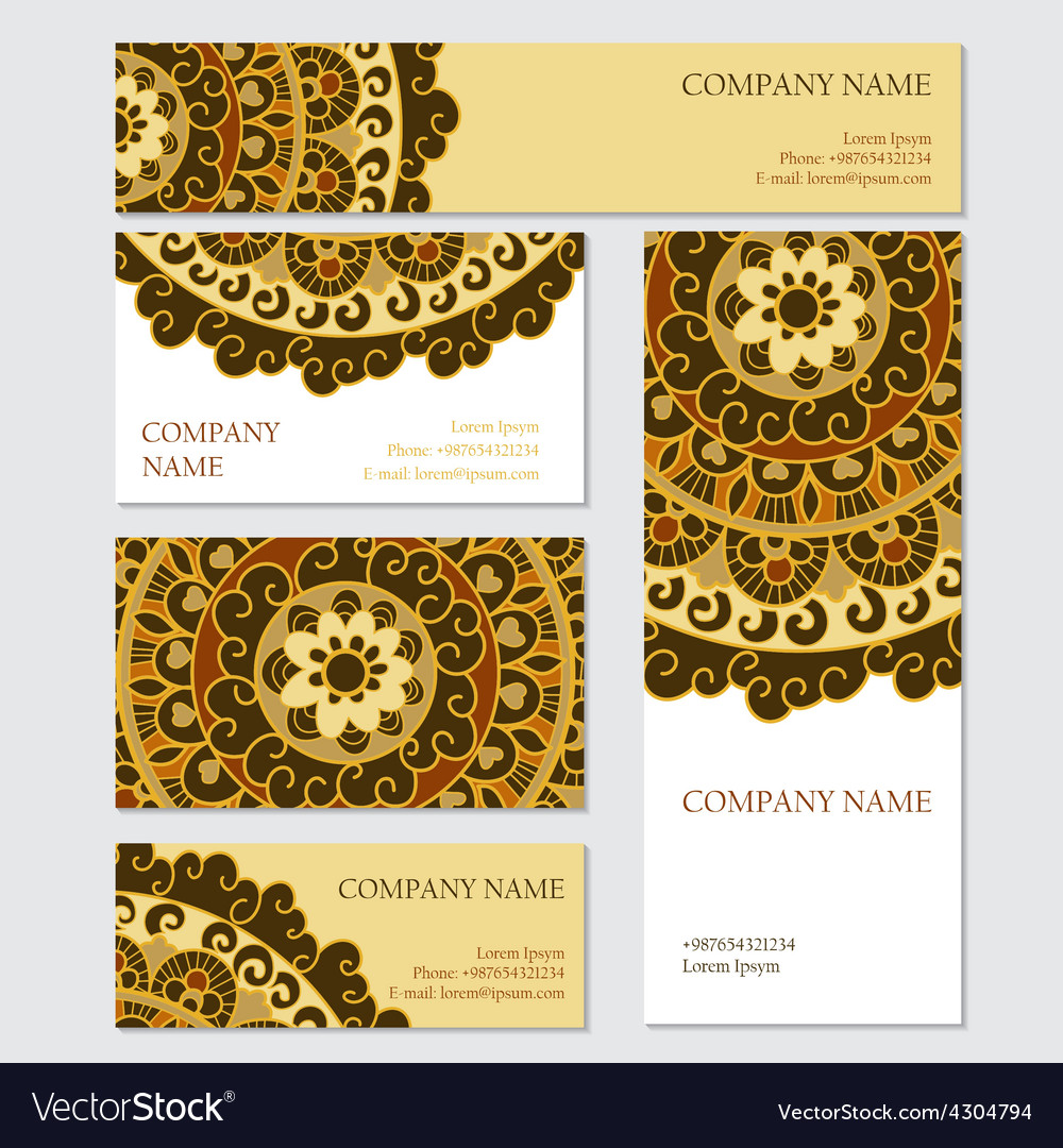 Set of business or invitation cards templates vector   Price: 1 Credit (USD $1)