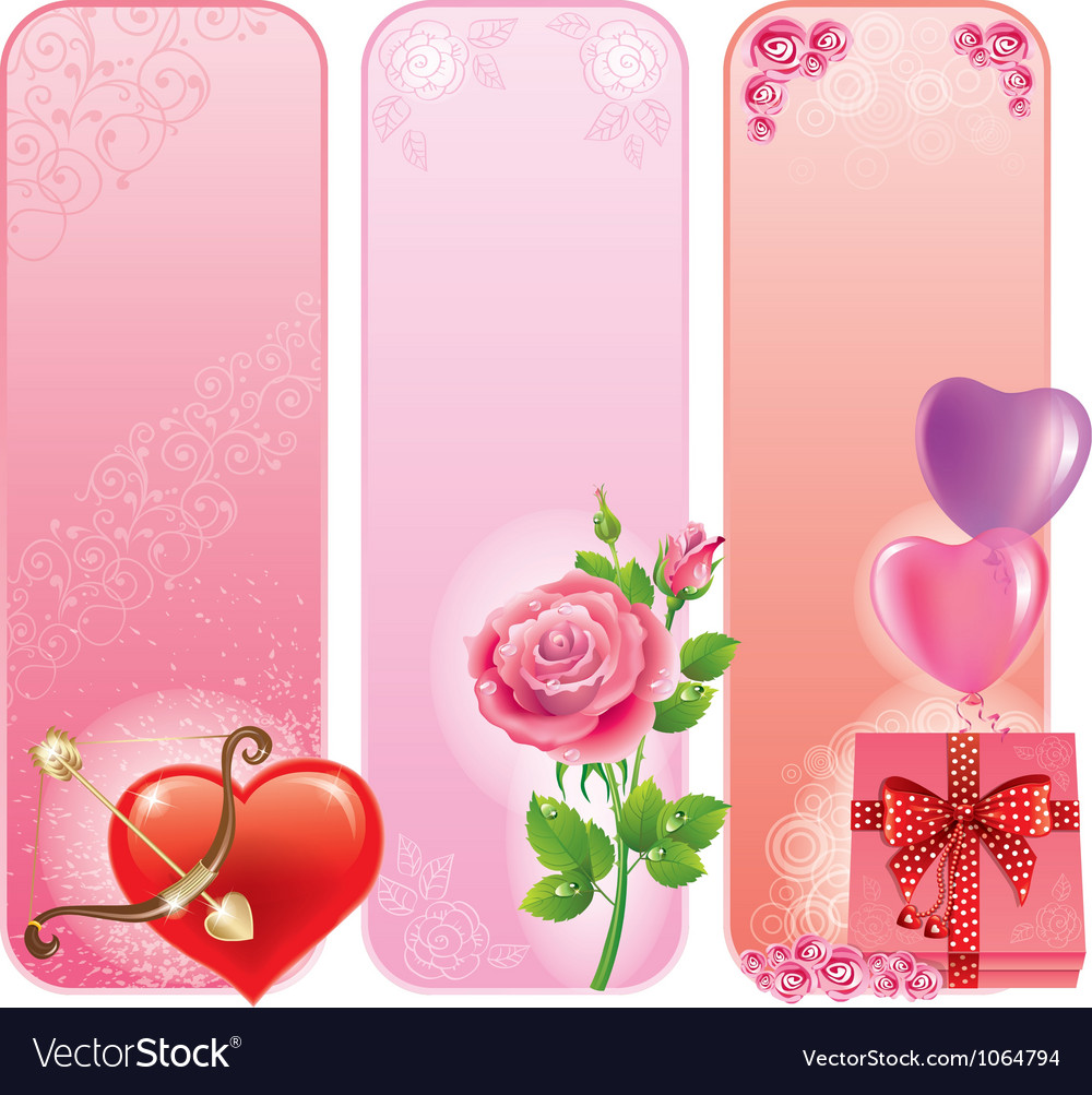 Valentines day banner vector | Price: 1 Credit (USD $1)