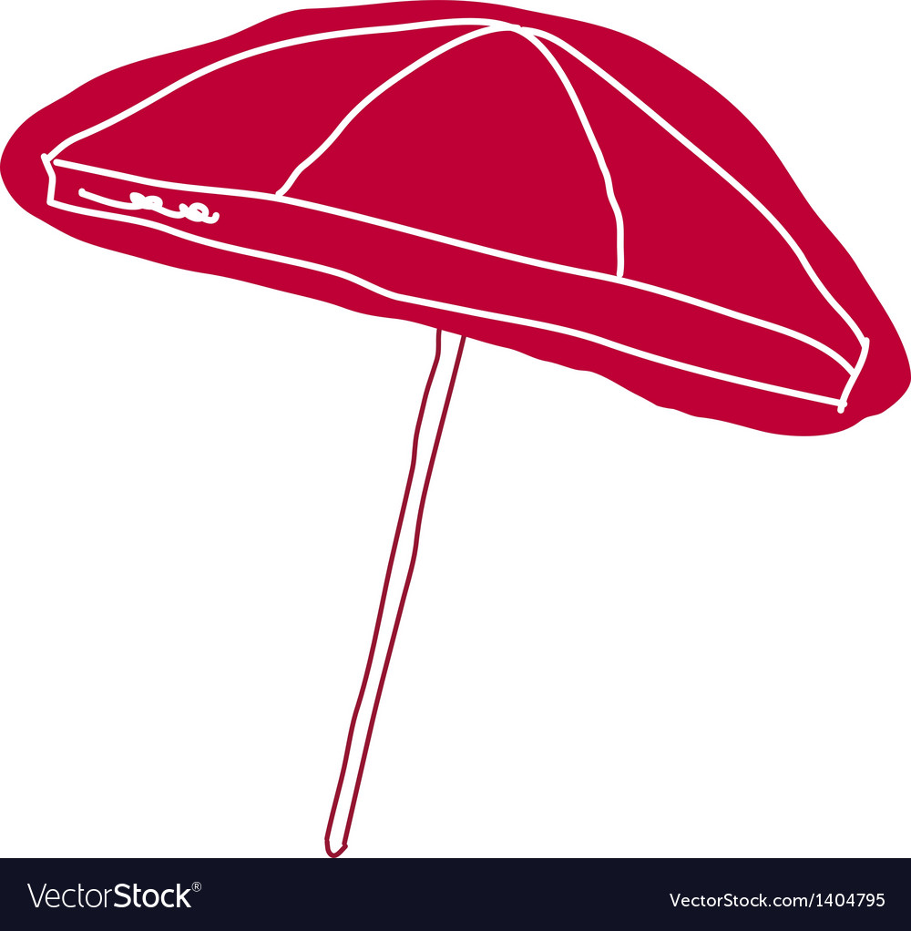 A view of parasol vector | Price: 1 Credit (USD $1)