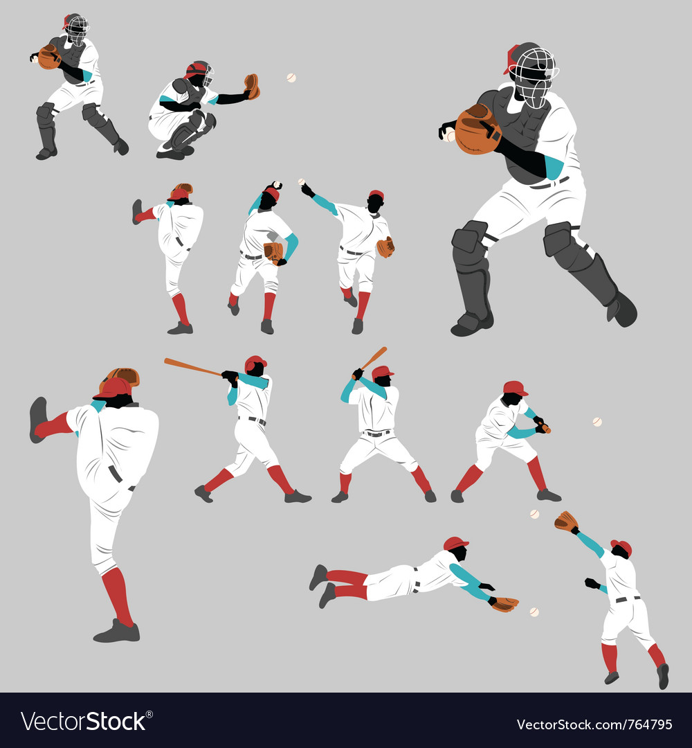 Baseball pitch vector | Price: 1 Credit (USD $1)