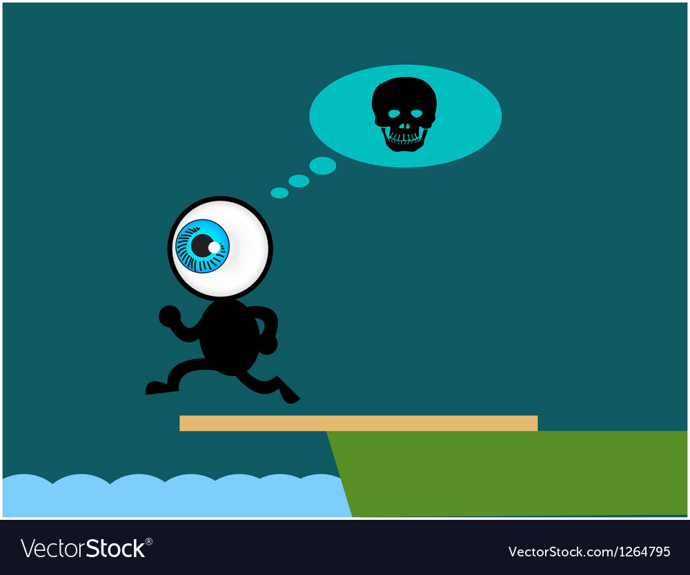 The blue eye suicide jump to sea vector | Price: 1 Credit (USD $1)
