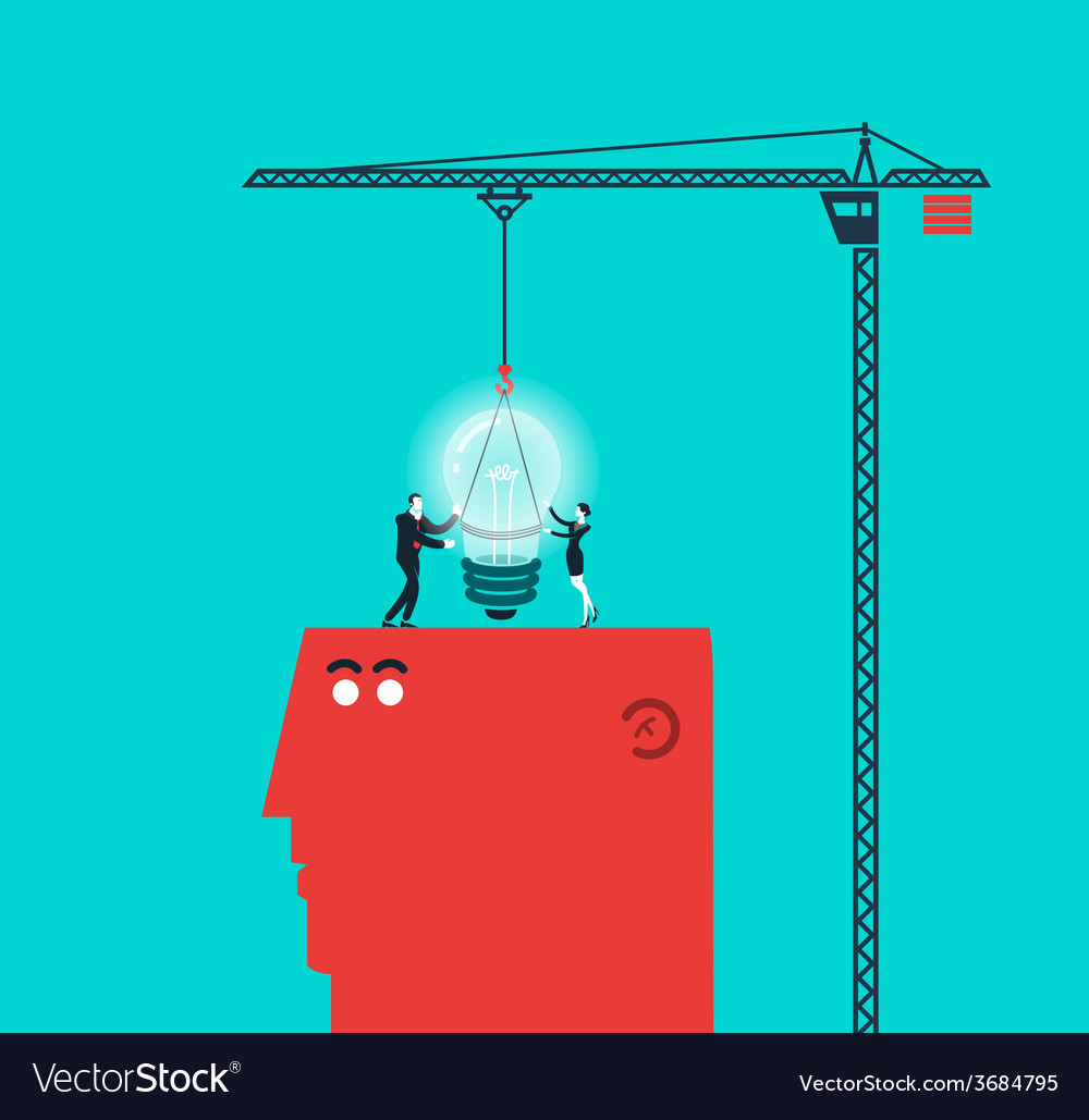 Concept of light bulb and gift - modern colors vector | Price: 1 Credit (USD $1)