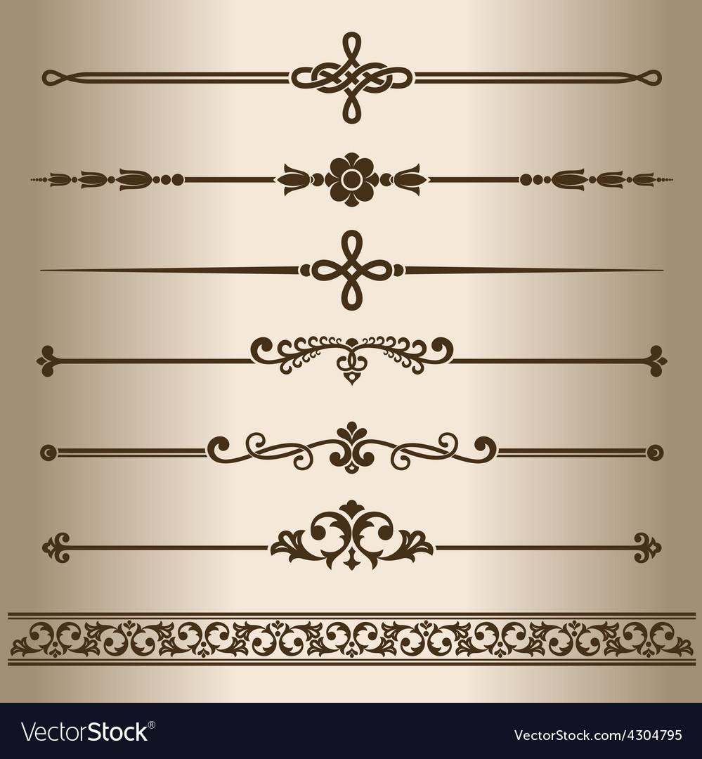 Decorative lines vector | Price: 1 Credit (USD $1)