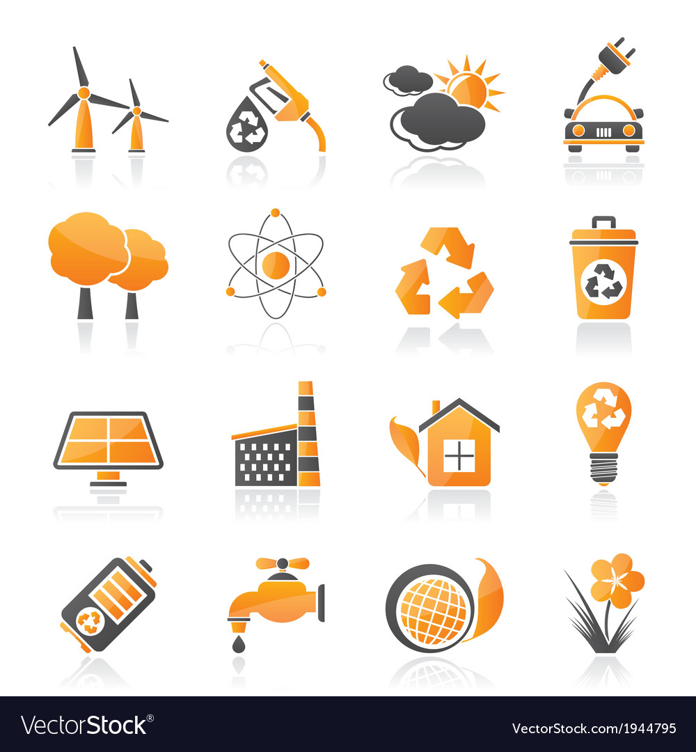 Environment and recycling icons vector   Price: 1 Credit (USD $1)
